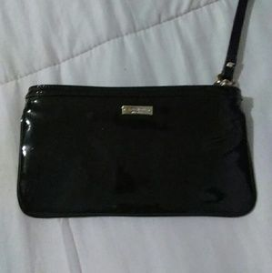 Kate Spade black patent leather with bow wallets